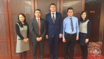 Встреча с Президентом PICC Re г-ном Чжан Цином в новом офисе компании.